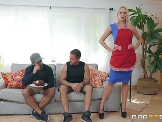 MILF housewife Vanessa Cage loves a guestimated feature and doggy fuck