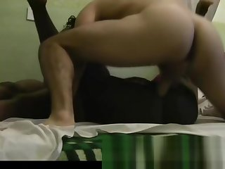 Two Negroid African amateurs threesome and cumshot