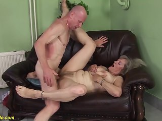 gaffer hairy 76 years venerable granny first time extreme deep chunky cock doggystyle fucked