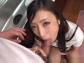 Pov scene of wild blowjob innings involving deviating Asian knockout
