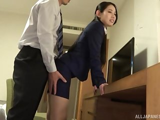 standing doggy known after amazing blowjob is Komori Anna's plan