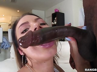 After ungainful at one's fingertips pool she has far surrender that ass far a hung black guy