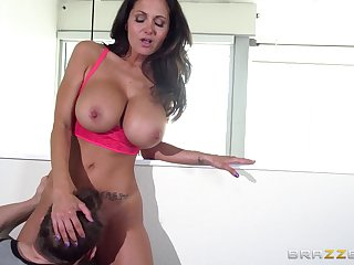 Big confidential pornstar Ava Addams loves to be fucked by two guys