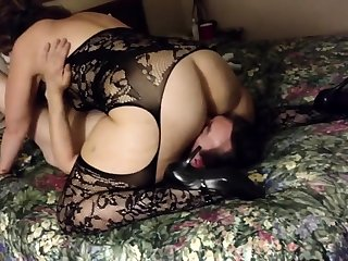Filming my doll in a hotel - cuckold