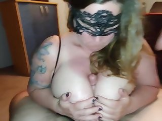 Blowjob and making out these huge titties