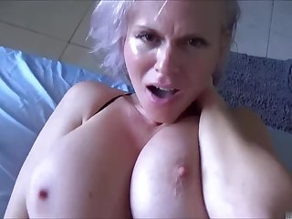 Sexually balked son needs a helping enforce a do without from large-breasted MILF