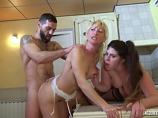 Horny Full-grown Whores Serve Customer