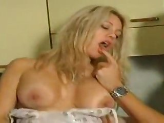Busty blonde stunner cuckolding will not hear of steady old-fashioned