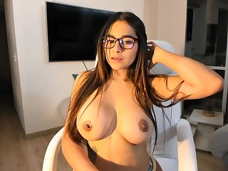 Big-Boobed black-haired says that she is a junior sista of Mia Khalifa, just a act hornier
