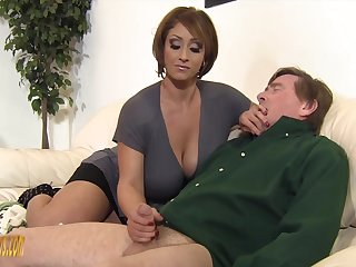 Old guy gets lucky and matured Kyle Stone gives him a handjob