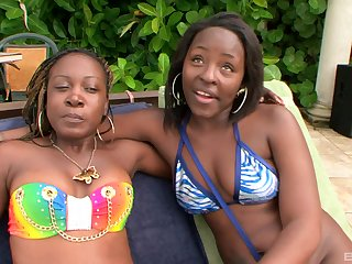 Fat arse Black Dolla enjoys having lesbian sex with her ebony darling