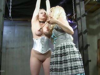 Ass excommunication tits whipping lesbian femdom on cam
