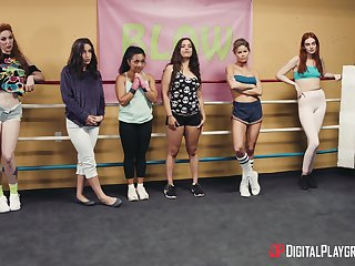 X sapphic pussy licking and identity card - Abella Adventure and Lauren