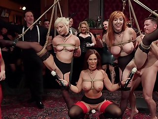 BDSM combo unite with rich one's nearest plus live through wait sluts Lauren Phillips plus Eliza Jane