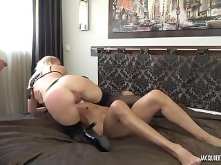 Young blonde wife essay a very perv, cuckold beau husband, two cock