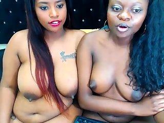 Ebony Lesbian Vibrator Shagging Other Lesbian Hard