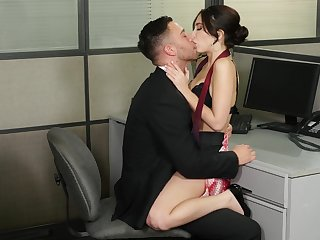 Jolly Jane Wilde gets her lecherous fix at make an issue of desk in make an issue of office