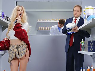 Wanton pussy and ass shafting between slutty Kenzie Reeves and a doctor