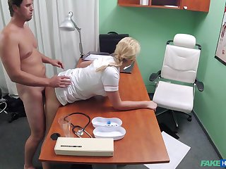 Naughty nurse Thomas Manial has the right obliging of medicine