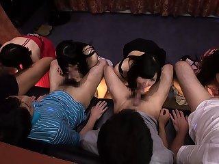 Gangbang group orgy sex aurora snow outdoor