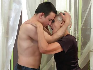 Mature gets steamy at hand nephew's chubby learn of