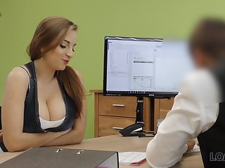 A university mingle seduces her future boss give her pair and fucks him good