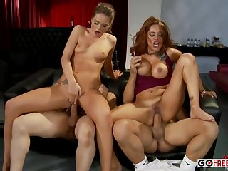 Tori Black And Francesca Le - Foursome Carnal knowledge
