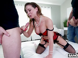 Extreme and hardcore double cock penetration for versatile Cherie Deville