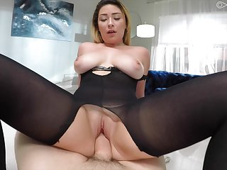 Mature join in matrimony Serena Skye fingered and fucked unconnected with the neighbor