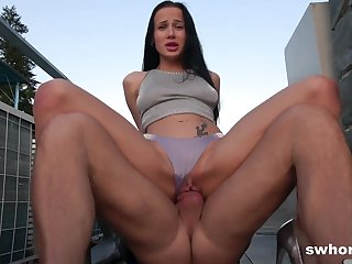 Nicole Love - Bareback On The Rooftop