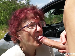 Nerdy mature redhead is as a result happy to give a proper blowjob out like a light