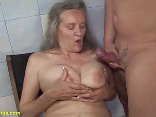 Ugly busty 83 epoch old mama rough fucked