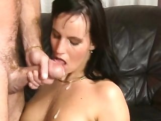 Amazing amateur full blowjob nearly facial cumshot