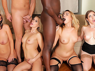 Four Blonde Anal Whores Realize Their Holes Annihilated in an IR Anal Orgy
