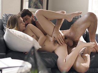 Well-bred young hottie Riley Star gets her cunt plunged hard