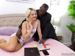 Zoe Sparx absolutely loves interracial copulation increased by she loves MMF threesomes