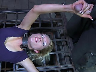 Having got naked crucified bitch Spill DeGrey gonna deserves pussy masturbation