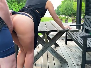 Morning alfresco quickie with schoolgirl - projectsexdiary