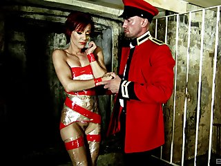 Nasty fucking with compelled up female attendant Lou Lou who loves HC sex
