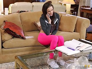 Unrestrained FFM troika in the living room with Belle Knox coupled with Kendra Lust