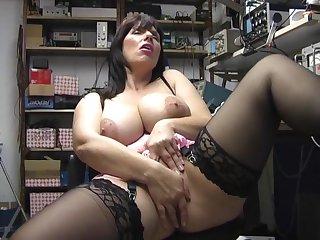 Chubby solo girl Josephine James moans while masturbating