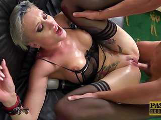 Deep grown-up anal mating in rough scenes of couch XXX