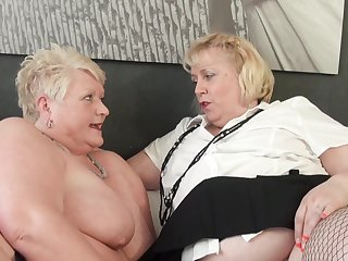 Dirty matured sluts Juicy Ginger with the addition of Lexie Cummings strive lesbian sex