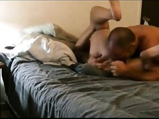 Screwing her ass with dildo